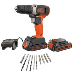 Black and Decker - 18V Lithiumion Drill Driver with a 15Ah Battery  400mA Charger - BCD001C1A10