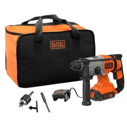 Black and Decker - 18V Cordless 20Ah SDSPlus Hammer Drill with Kit Box - BCD900D1S
