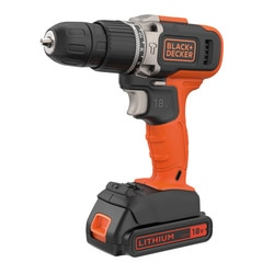 Black and Decker - 18V Lithiumion 2 Speed Hammer Drill with 1x 15Ah Battery and 400mA Charger - BDASB18V