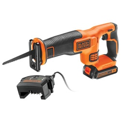 Black and Decker - 18V 15Ah Recip Saw with 15Ah battery Charger and 1 blade - BDCR18C1