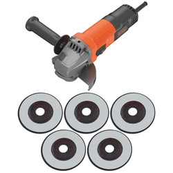 Black and Decker - 750W 115mm Angle Grinder with 5 Cutting Discs - BEG110A5