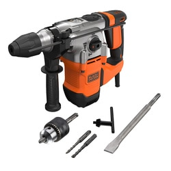 Black and Decker - 1250W Corded SDSPLUS Hammer Drill and Kit Box - BEHS03K