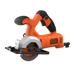 Black and Decker - 400W Corded Compact 85mm Circular Saw with 2 Blades and Kit Box - BES510K