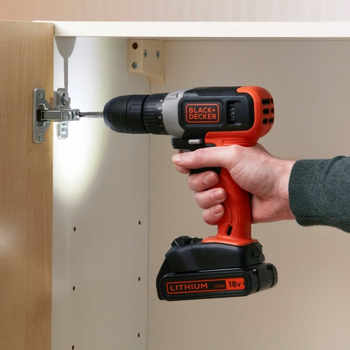 Black and Decker - 18V Lithiumion Drill Driver with a 15Ah Battery  400mA Charger - BCD001C1