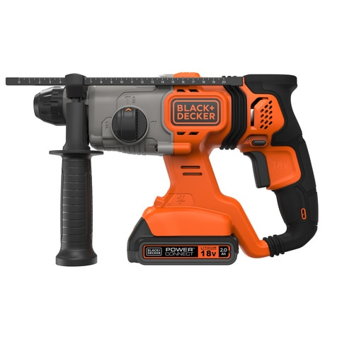 Black and Decker - 18V SDSPlus Hammer Drill with 20Ah Battery 1A Cup Charger in a kitbox - BCD900D1K