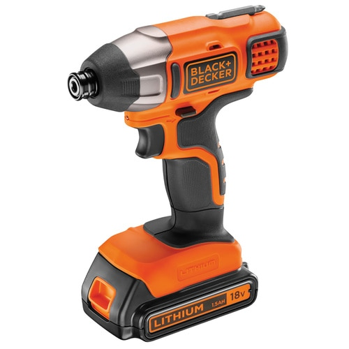 Black And Decker - 18V Impact Driver with 15Ah Battery 400mA Charger in acarton - BDCIM18C1