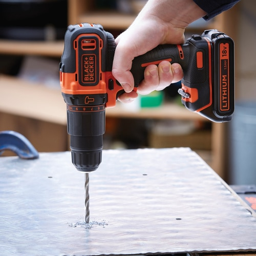 Black And Decker - 18V Lithiumion 2 Gear Hammer Drill with one Battery  Charger - BDHD18