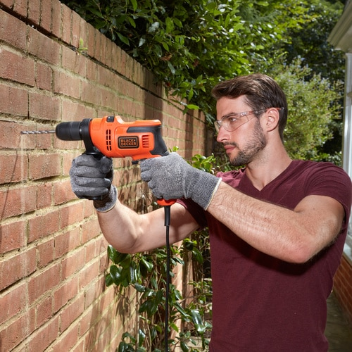 Black and Decker - 500W Corded Hammer Drill - BEH200