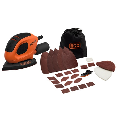 Black and Decker - 55W Mouse Sander with 10 Accessories in Softbag - BEW230BCA