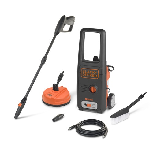Black and Decker - 1400W High Pressure Washer with Mini Patio Cleaner and Fixed Brush - BXPW1400PE