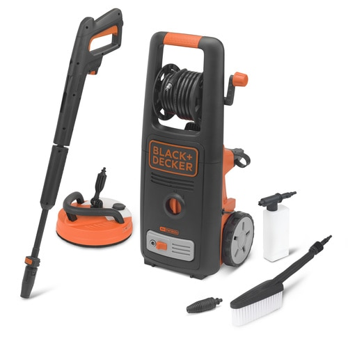Black and Decker - 1800W High Pressure Washer with Patio Cleaner Deluxe and Fixed Brush - BXPW1800PE