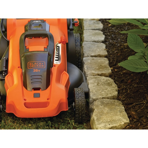 Black and Decker - 48cm 36V Lithiumion Cordless Autosense Mower with 2 batteries - CLMA4820L2