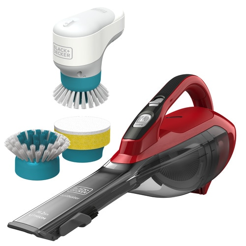 Black and Decker - 108V Dustbuster comes with Powered Brush Combo Kit - DVA315JBHPC