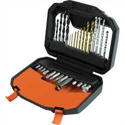 Black and Decker - 30 Piece Premium Case Screwdriving  Drilling Set - A7183