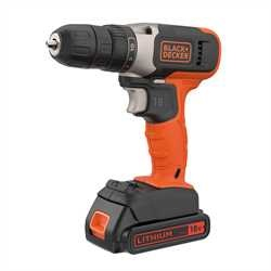 Black and Decker - 18V Lithiumion Drill Driver with 2x 15Ah Batteries and 400mA Charger - BCD001C2K