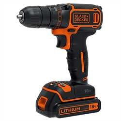 Black and Decker - 18V Lithiumion Drill Driver  400mA charger  2 batteries  Kitbox - BDCDC18KB