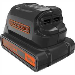 Black and Decker - 18V USB Charger - BDCU15AN