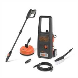 Black and Decker - 1500W High Pressure Washer with Mini Patio Cleaner and Fixed Brush - BXPW1500PE