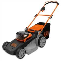 Black and Decker - 48cm 54V DUALVOLT Lithiumion Cordless Autosense Mower  Bare Unit - CLM5448PCB