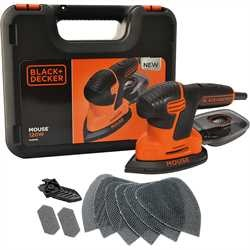 Black and Decker - 120W next generation Mouse sander with kit box and 9 accessories - KA2500K