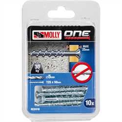 Black and Decker - Molly One Fixing 10 pack Silver Countersunk - M30018