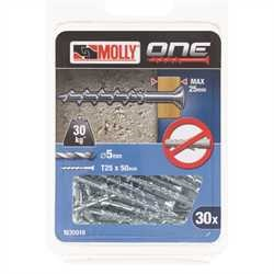 Black and Decker - Molly One Fixing 30 pack Silver Countersunk - M30019