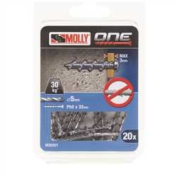 Black and Decker - Molly One Fixing 20 pack Silver Panhead - M30021