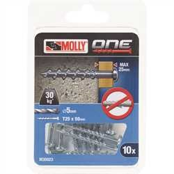 Black and Decker - Molly One Fixing 10 pack Silver Panhead - M30023