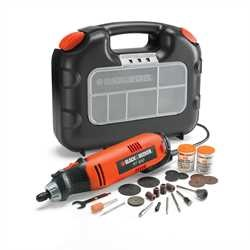 Black and Decker - Rotary Tool with 87 Accessories in a Kit Box - RT650KA