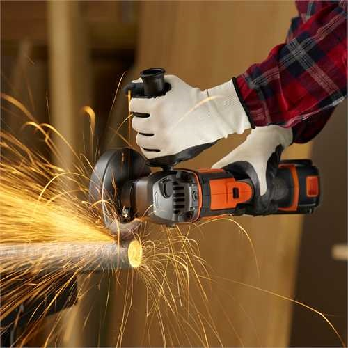 Black and Decker - 18V LithiumIon Cordless Angle Grinder Without Battery And Charger - BCG720N