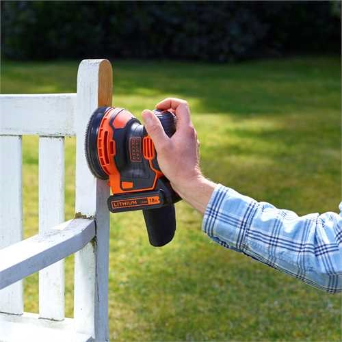 Black And Decker - 18V Lithiumion Cordless Random Orbital Sander Without Battery and Charger - BDCROS18