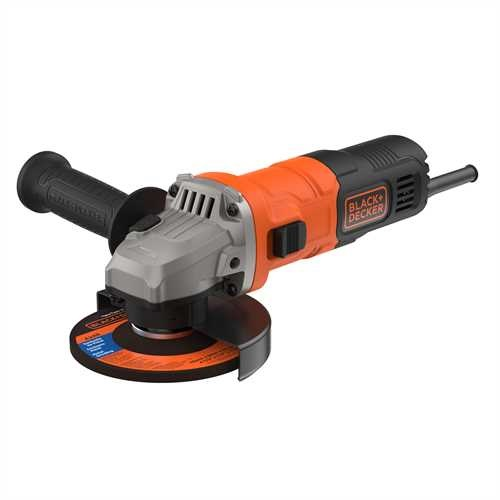 Black And Decker - 710W 115mm Grinder with 5 Cutting Discs Cutting Guard and Grinding Guard - BEG010