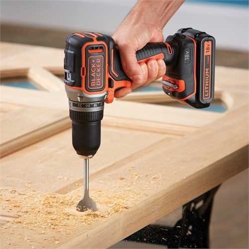 Black and Decker - 18V Brushless Lithiumion Drill Driver with 400mA Charger  Kit Box - BL186K