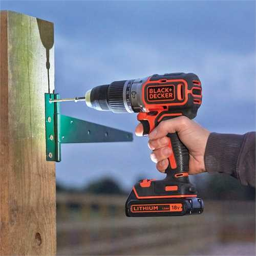 Black and Decker - 18V Lithiumion Brushless 2 Gear Cordless Hammer Drill without battery and charger - BL188N