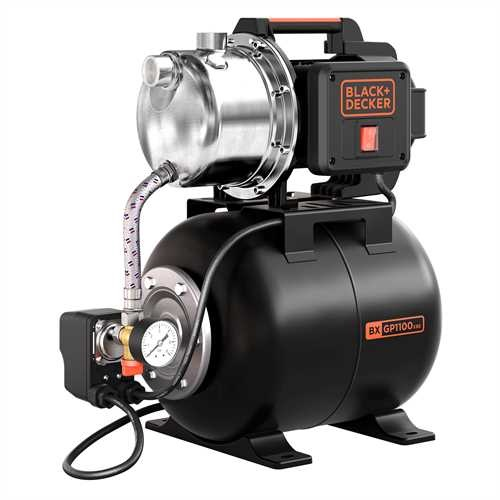 Black and Decker - 1100W Selfpriming Pump with Booster Unit - BXGP1100XBE