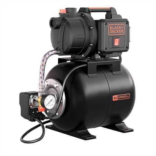 Black and Decker - 600W Selfpriming Pump with Booster Unit - BXGP600PBE