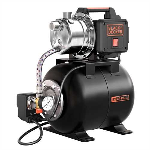 Black and Decker - 800W Selfpriming Pump with Booster Unit - BXGP800XBE