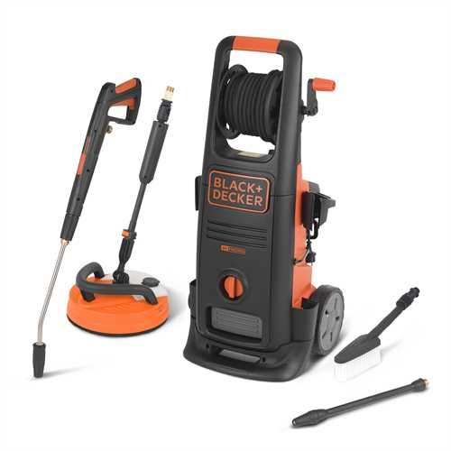 Black and Decker - 2100W High Pressure Washer with Patio Cleaner Deluxe and Fixed Brush - BXPW2100PE