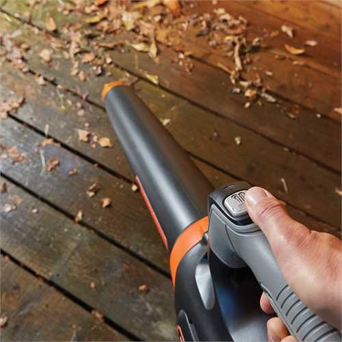Black and Decker - 54V DUALVOLT Lithiumion Cordless POWERCOMMAND Boost Leaf Blower - GWC54PC