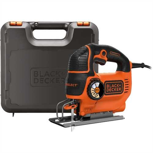 Black and Decker - 550W AUTOSELECT Pendulum Jigsaw with blade and Kit box - KS801SEK