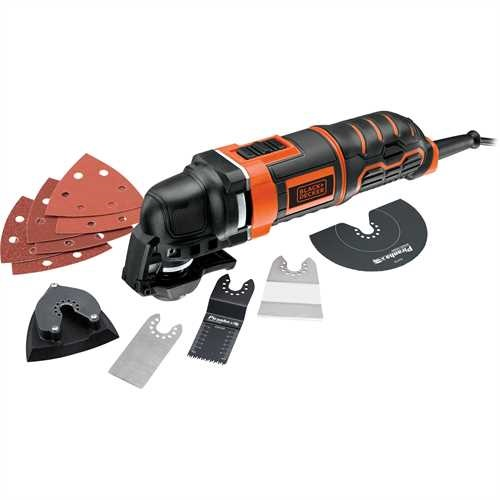 Black and Decker - 300w Oscillating Multi Tool with 12 Accessories  Kitbox - MT300KA
