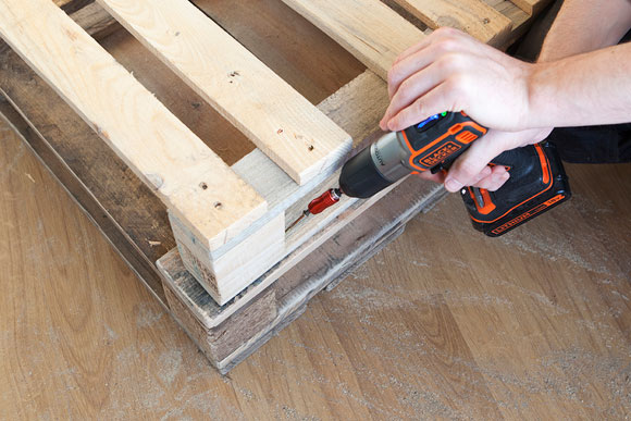 diy how to projects create your own coffee table black decker. Black Bedroom Furniture Sets. Home Design Ideas
